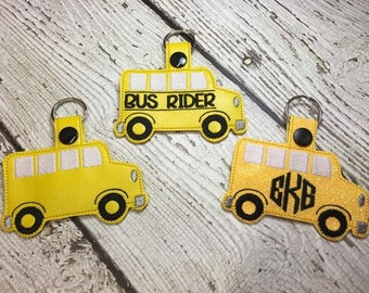 Bus Rider - AND Blank School Bus - 2 files included - BAG TAG- Digital Embroidery Design