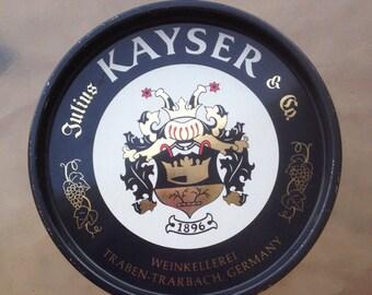 Kayser Beer Tray, Julius Kayser Tray, Germany Beer Tray, German Beer Tray, Vintage Barware, Beer Collectible, Man Cave Decor, Beer Lover