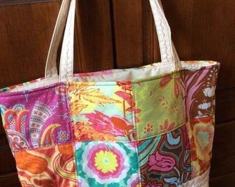 Patchwork Quilted Tote Bag