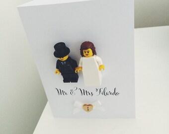 Lego wedding day card