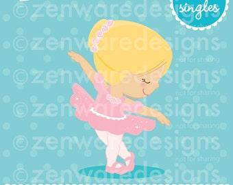 Blonde Ballerina Girl Clipart