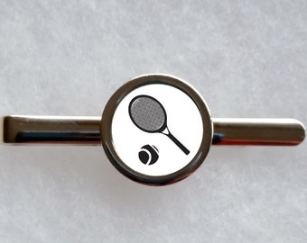 Tennis Tie Clip - can be fully personalised