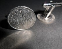 49th Birthday gift 1967 lucky sixpence British coin cufflinks 49th gift for a man 1967 cufflinks