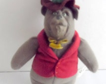Disney, Country Bears plush doll with rubber face.