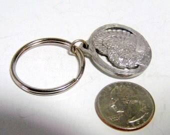 Vintage hunter's key ring, key chain.  Diamond Wild Turkey