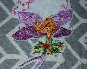 Sugar Plum Fairy   Iron on No Sew Embroidered Patch Applique