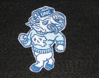 UNC University of North Carolina College Football Team Iron on No Sew Embroidered Patch Applique