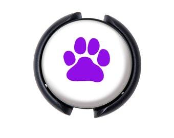Dog Paw Stethoscope ID tag, Name Tag, ID Tag-Purple