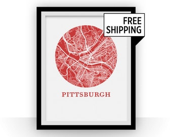 Pittsburgh Map Print - City Map Poster