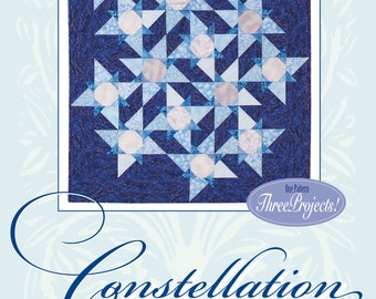 Constellation Quilt, Pillow and Table Runner Pattern