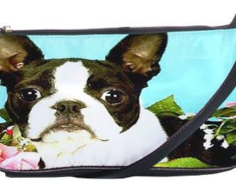 Boston Terrier Leather Clutch Purse!