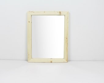Solid Wood Natural Rustic Modern Pine Wall Mirror/ Bathroom Mirror/ Vanity Mirror/ Entryway Mirror