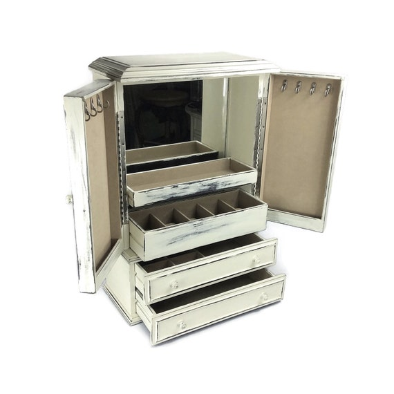 large jewelry organizer white jewelry box white jewelry