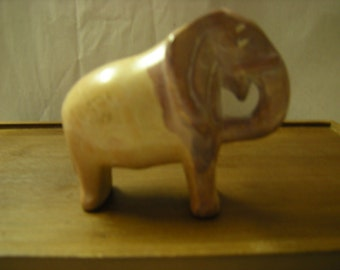 vintage elephant figurine-carved onyx-collection-shelf decor-statuette of elephant-