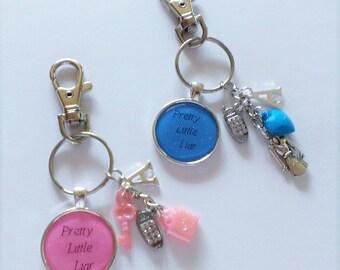 YOU PICK Pretty Little Liar Keychain/Purse Clip