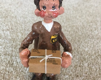 UPS Driver And Christmas Ornament Or Cake Topper