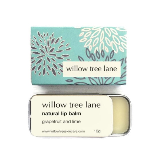 Grapefruit and Lime Natural Lip Balm, Vegan lip salve infused with essential oils, sliding tin
