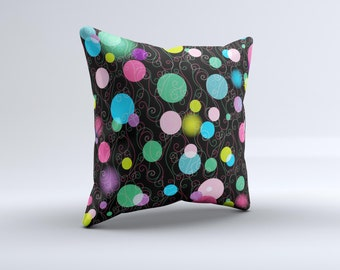 TheNeon Colorful Stringy Orbsink-Fuzed Decorative Throw Pillow