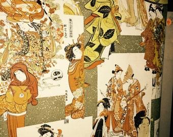 Vintage Asian Japanese Oriental Wallpaper Roll