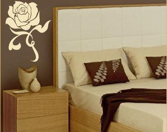 Love Rose Romantic - Wall Art Decal Sticker