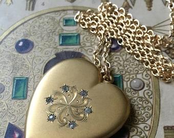 Mint Condition Edwardian Heart Locket