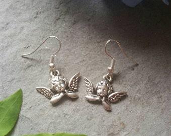 Angel earrings - Angel jewellery - Angel - Guardian Angel