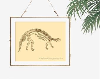 Science art print dinosaur artwork dinosaur fossil paleontology science poster wall art nerd art poster print dino skeleton biology wall art