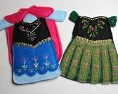 Frozen Anna Dresses Felt Quiet Book Princess Dress Up Doll (Dresses Only)