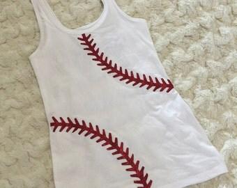 Personalized Baseball Glitter Tank