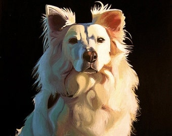 Solid Background Painting - Custom Pet Portrait Memorial Art