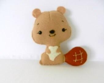 Felt Beaver Plushie Softie by Noialand