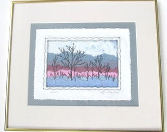 """Original The Prints & The Pulper Paper Mill Art Title """"Strata"""" By M.P Marion Hand Signed"""