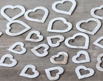 Rustic Decorative Hearts, Paper Hearts, Upcycled Cardboard Hearts, Rutis Wedding Hearts, Hearts for Garland, Scrapbooking Hearts, Wedding