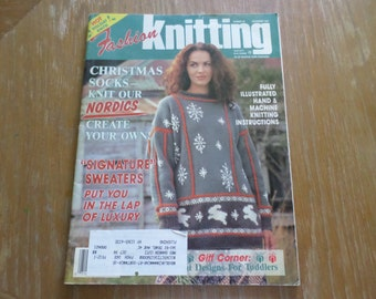 Vintage 1990 Fashion Knitting Magazine # 68 December 1993