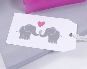 Elephant Love Gift Tag