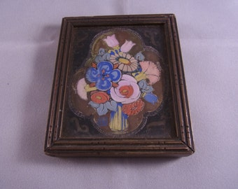 Vintage Original Floral Water colour OOAK Floral Watercolour Miniature Floral Watercolour antique Water colour Vintage Art