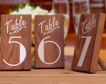 Table Markers, Wedding Table Numbers