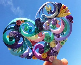 "Quilled Paper Art: ""Love is All Around"""