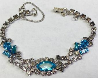 Lovely Blue Vintage Rhinestone Bracelet-Free shipping