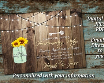 Housewarming Party Invitation - Housewarming Shower Invitation - PRINT AT HOME, Bridal Shower