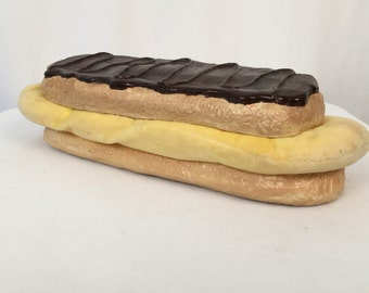 Vintage Pop Art Sculpture, Chocolate Eclair, 1975