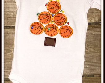 Personalized Sports Christmas Shirt/Bodysuit--Choose from Football, Baseball, Basketball, or Soccer