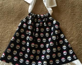 Skulls girls dress size 12 months