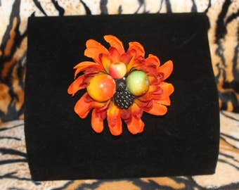 Autumn Fruits and Flower Hairclip Burlesque Pinup