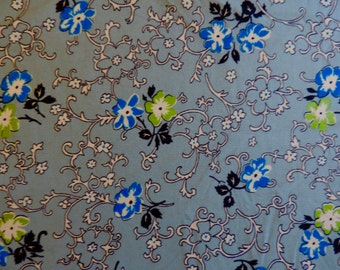 RICHMOND by Denyse Schmidt ~ Fabric ~ Flowering Vines on Blue ~ Very Rare!! ~ Floral ~ DS Quilts ~ Quilting ~ Sewing ~ Home Decor