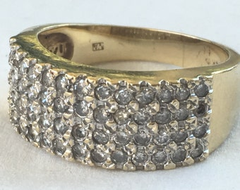 Vintage 14k pave diamond ring size 8.5