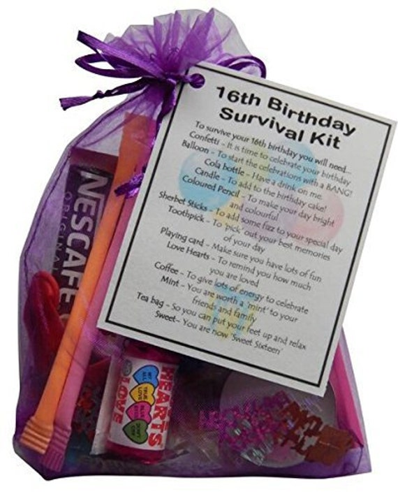 16th Birthday Survival Kit 16th Gift Gift For By SmileGiftsUK