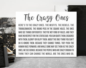 Here's To The Crazy Ones, Steve Jobs, Canvas Art