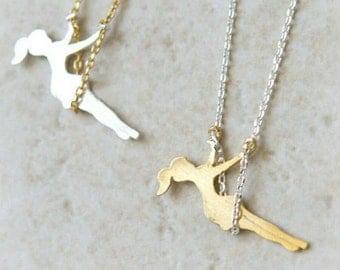 Swing away!!! Girl on swing necklace