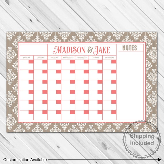 Calendar Planner Board : Wall calendar dry erase board customized by willowlaneprints
